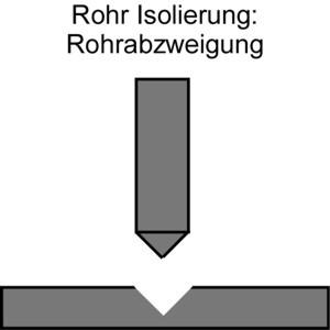 Isolierung Rohre: Rohrabzweigung