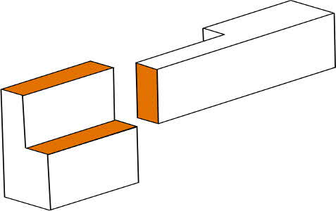 Holzverbindungen berblattung for Zimmermannsverbindungen herstellen