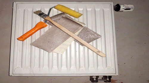 Werkzeuge zum Heizkörper streichen