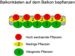 Balkonkästen Balkon bepflanzen