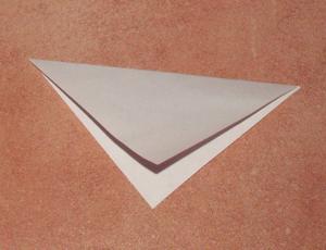Papierblumen basteln diagonal falten