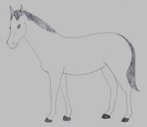 Laubsägevorlage Pferd Laubsägearbeiten kostenlos