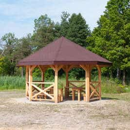 Einen Gartenpavillon selber bauen