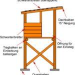 Hochsitz Bauplan und Bauanleitung