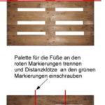 Eine Sitzbank aus Paletten bauen