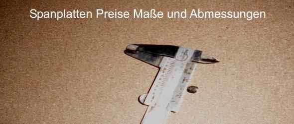 Top Spanplatten Preise, Maße und Abmessungen - Frag-den-heimwerker.com TA57