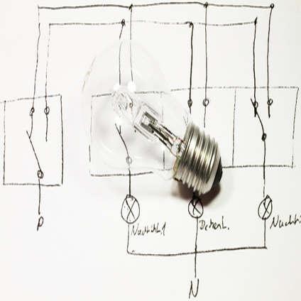 schaltplan lichtschalter ausschaltung anschlie en. Black Bedroom Furniture Sets. Home Design Ideas