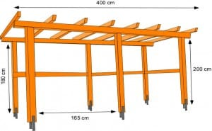 Unterstand selber bauen: Dachsparren befestigen