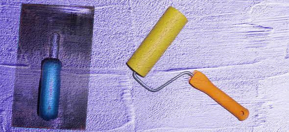 Rollputz auf die Decke auftragen