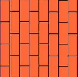 Fliesen diagonal verlegen Muster: Rechteckverband