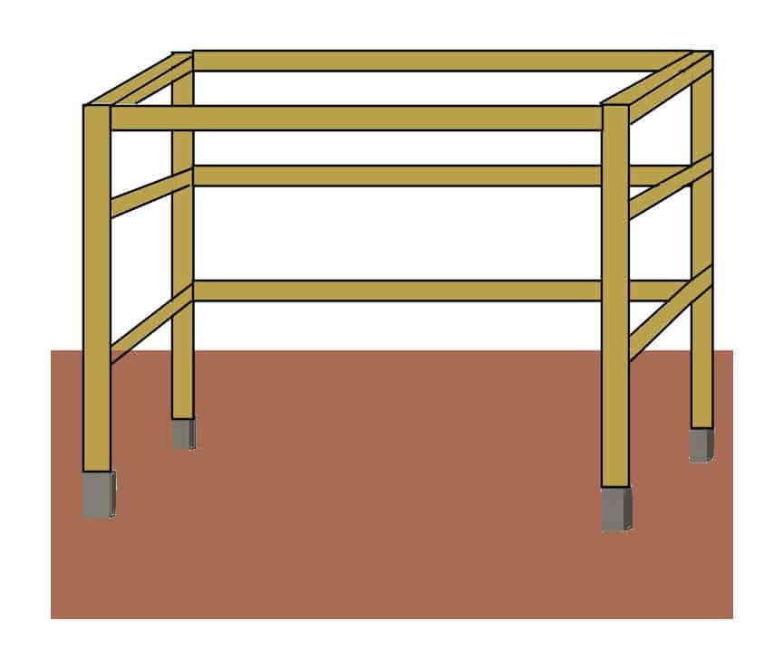 Tomatenhaus Eigenbau: Die Holz Rahmenkonstruktion bauen