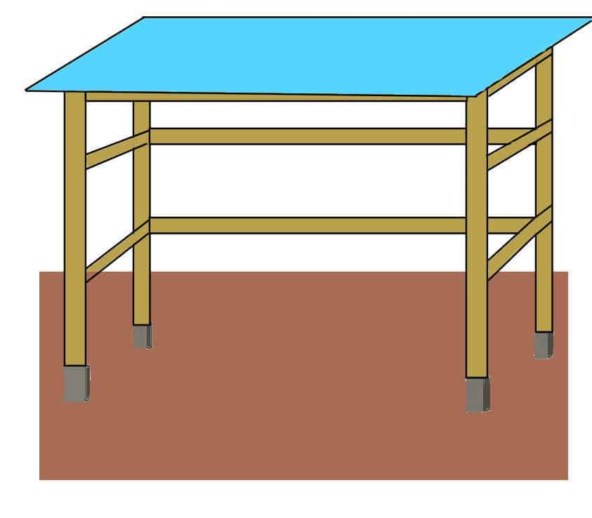 Das Dach für das Tomatenhaus bauen