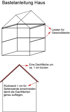 Bastelanleitung Haus aus Holz