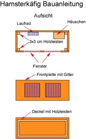 Hamsterkäfig Bauanleitung Bauplan