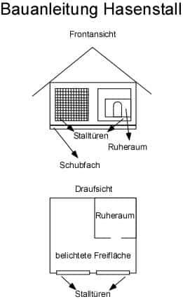Bauanleitung Hasenstall Bauplan selber bauen
