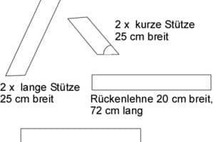 Holzgartenbank selber bauen