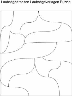 Laubsägearbeiten Puzzle Laubsägevorlagen kostenlos