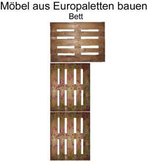 Möbel aus Paletten bauen: Bett