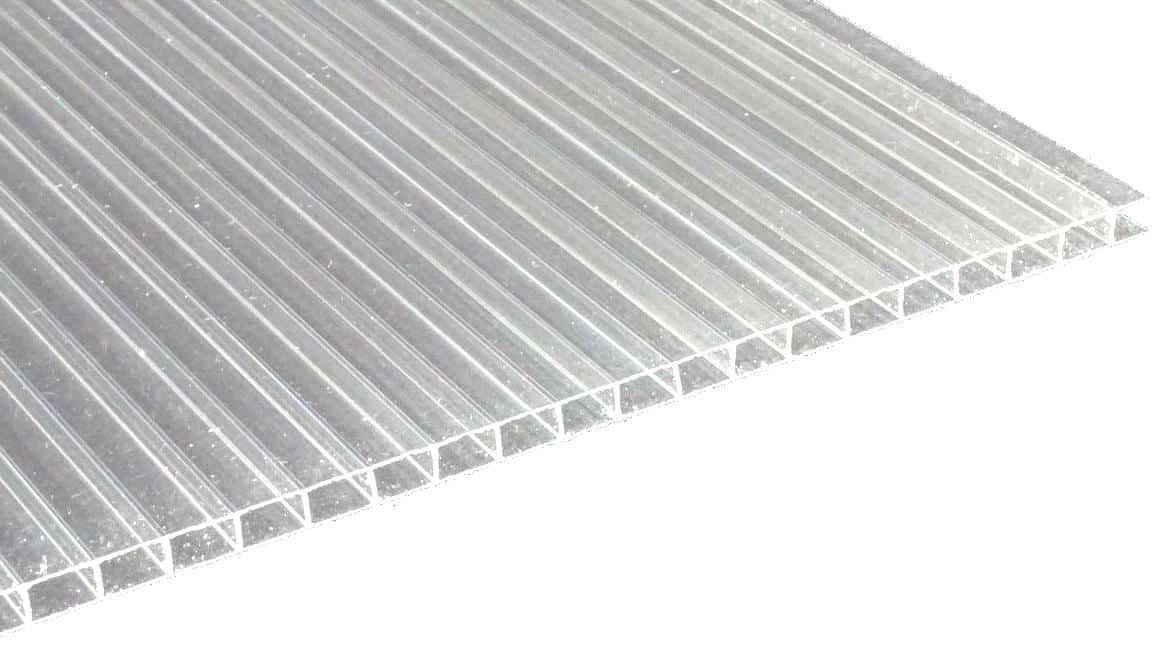 Polycarbonat-Doppelstegplatten für das Terrassendach
