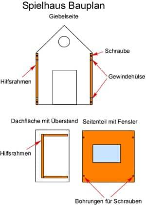 Spielhaus Bauplan Bauanleitung Holz
