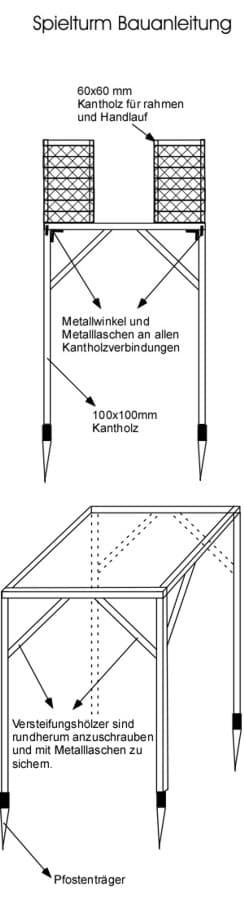 Spielturm Bauanleitung Bauplan Anleitung bauen