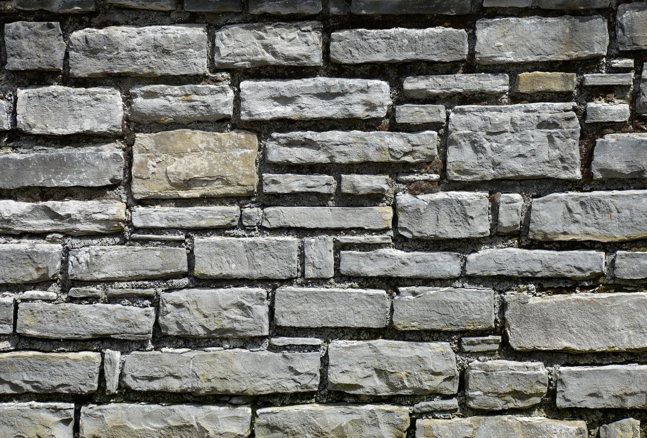 Muschelkalk Mauersteine gespalten